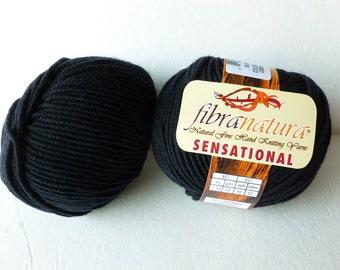 Yarn Sale Black 40806 Sensational by Fibranatura