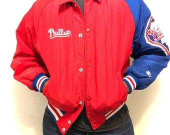 Vintage Phillies Jacket / Retro Philadelphia Phillies Bomber