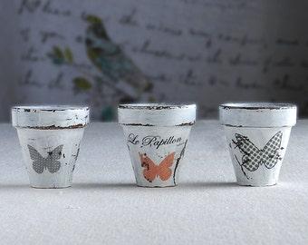 Miniatures clay pots*Home decoration*Miniature fairy*Miniature garden*Outdoor garden*Fairy garden*Craft pots