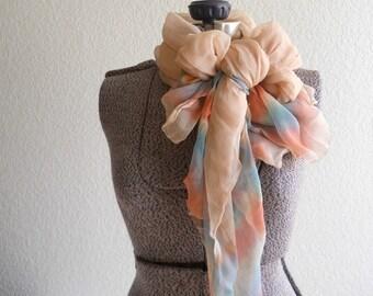 vintage sheer silk scarf