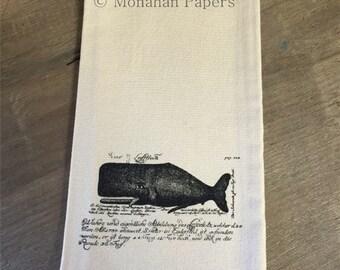 The Whale Tea Towel - Kitchen - Houseware - Nautical - Gift - Beach - Ocean