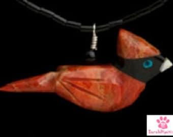 Cardinal Necklace , Cardinal Pendant, Cardinal Jewelry, Red  Cardinal Necklace, Red Bird Jewelry, Cardinal Gifts, Cardinal Bird