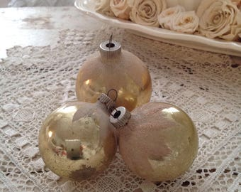 Set of 3 Vintage Shiny Brite Christmas Ball Ornaments