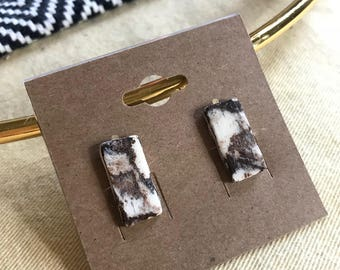 Marbled Earthenware Rectangle Studs