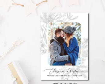 Christmas Kisses Printed Holiday Cards | Happy Holidays | Merry Christmas Photo Card |  Printed or Printable by DarbyCards
