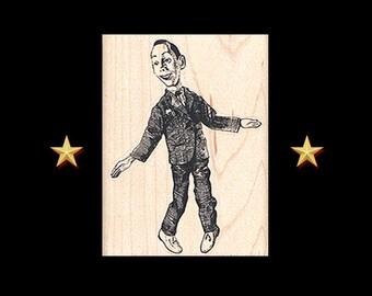 PEE WEE HERMAN Rubber Stamp, Pee Wee Playhouse, Pee-Wee Herman, Paul Reubens, Gary Panter, Pee Wee Herman Doll Stamp, Pee-Wee's Playhouse