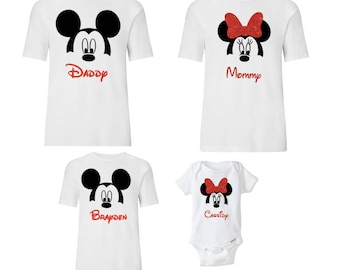 Disney Family Mickey Minnie Shirts, Matching Vacation Shirts, Disney Shirts Vacation, Mickey Head Shirts, Minnie