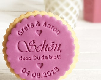 I'm glad you're here! -Biscuit Stamp/Fondantstempel