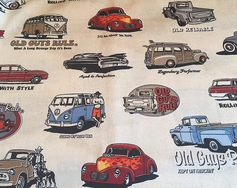 Old Guys Rule Vintage Cars VW Van Antique Cars Classic Cars Vintage Trucks Woodie Old Reliable Hot to Trot BTY