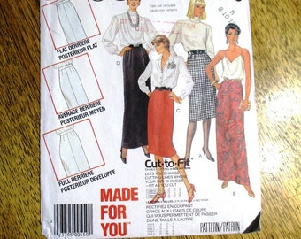 CHIC 1980s High Waisted Pencil Skirt / Adjustments for Curvy Ladies! - Size (8 - 10 - 12) - UNCUT ff Vintage Sewing Pattern McCalls 2759