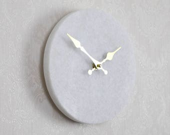 Solid Marble Wall Clock