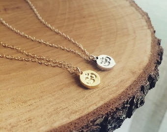 Ohm Necklace, Tiny OM Necklace, OM necklace, Dainty Ohm Necklace, Small Silver or Gold Ohm Pendant Necklace - Available in Gold and Silver