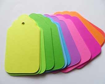40 Multicolored Large Tags