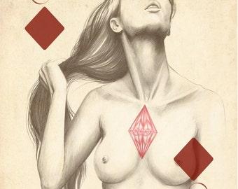 Illustration: Ace of Diamonds by Marisa Jiménez LIMITED EDITION