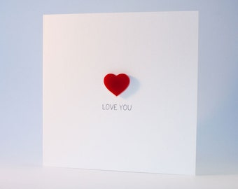 Love You Card with Magnetic Love Heart Keepsake