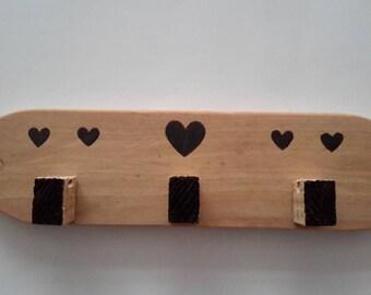 Coat rack, pattern hearts jewelry holder