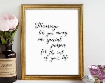 Home Is Wherever I'm With You, Master Bedroom Print, Funny Quote Print, Marriage Quote, Romantic Gift, Printable Art, Anniversary Gift