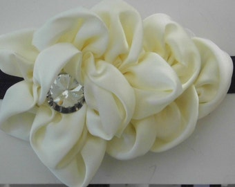 Large Satin Flower Headband
