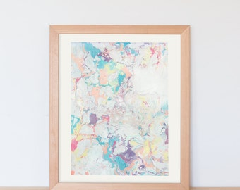 print of handmade paper marbling A4 poster / paper marbling / wall art