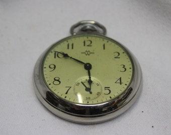 Vintage 20th Century Ingraham Model Pocket Watch