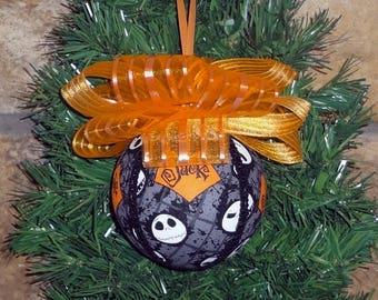 Nightmare Before Christmas Jack Skellington Print Christmas Ornament