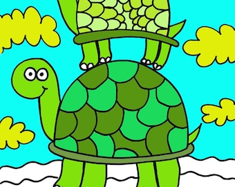 Coloring Book by Jelene - Animals and Bugs Coloring Book for Kids or Big Kids! Printable PDF