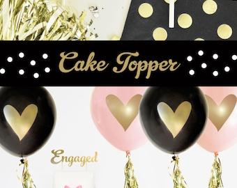 Engagement Cake Topper - Engaged Cake Topper - Engagement Decorations - Engagement Party Decor (EB3116) ENGAGED cake topper