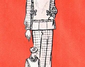 Anne Adams 4960 Snazzy Overblouse, Jerkin & Pants / ca. 1970's / SZ8 UNCUT