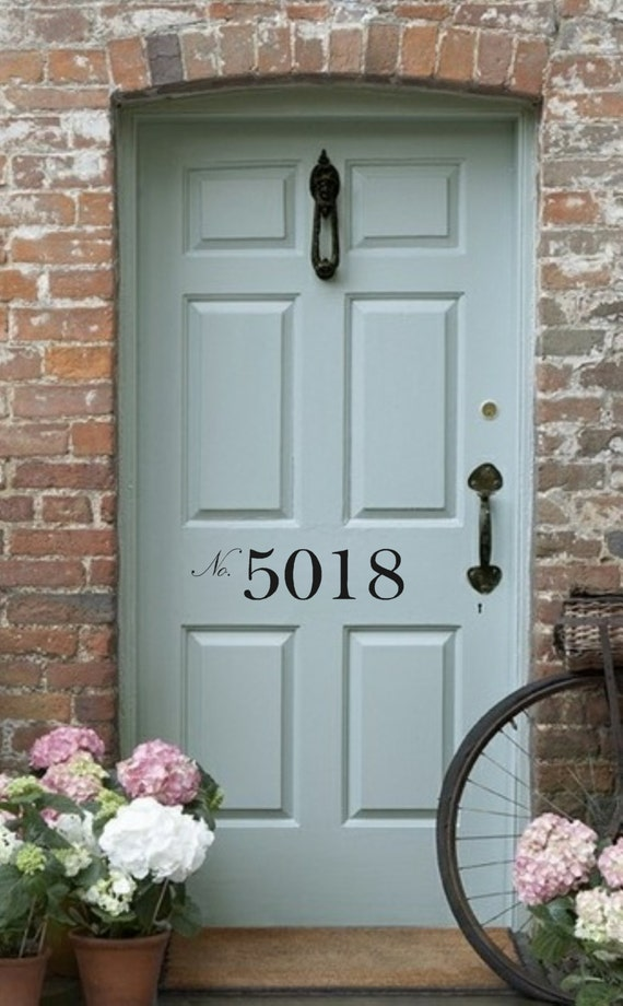 Front Door Number Vinyl Decal Street Number House Address