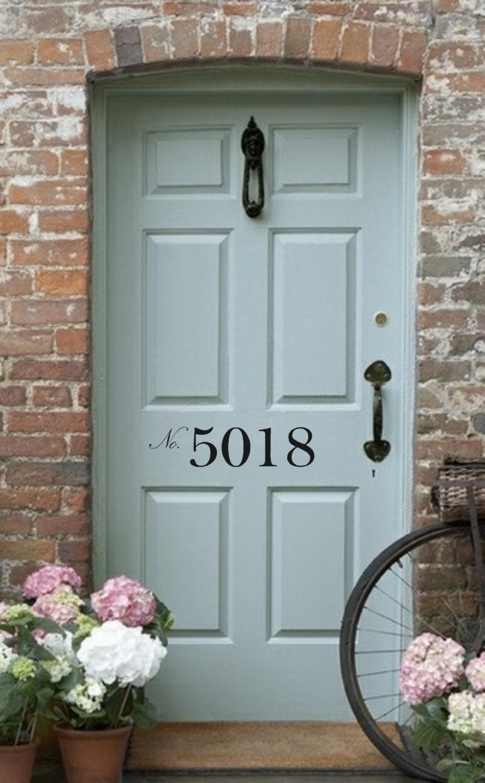 ?zoom & Front Door Number Vinyl Decal Street Number House Address