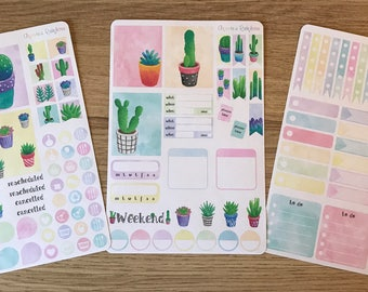 Succulents & Cacti Weekly Kit - for use with Erin Condren LIFEPLANNER(TM)