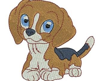 Bébé Beagle brodé torchon | Broderie serviette de cuisine | Personnalisé serviette de cuisine | Broderie torchon | Cadeau d'amoureux de chien