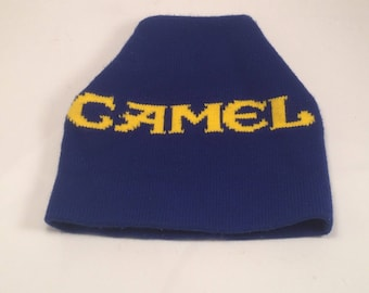 Camel Cigarettes vintage 1980s knit winter ski hat
