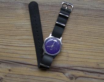"Soviet watch ""Pobeda"", Russian watch  ,Mens watch, Black White Watch ,minimalist watch, watch men , classic watch ,"