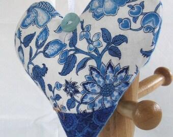 Lavender-filled Hanging Heart Decoration