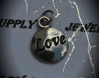 Love Sterling Silver Plated Charm