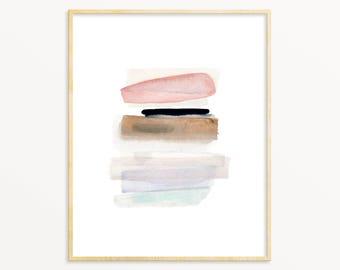 Pastel Abstract Watercolor. Pink/Blue/Purple Watercolor. Mited Tones Watercolor Art. Modern Art Print. Contemporary Decor. Soft Pretty Art.
