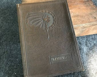 Antique 1930 yearbook Analy High Native American cover