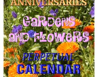BIRTHDAY & ANNIVERSARY CALENDAR - Gardens and Flowers