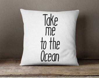 Ocean Throw Pillow, Summer pillow case, decorative pillow case, summer guest room pillow printed bedroom decor home decor sofa cushion P313