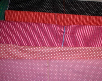 """Small White Polk Dots Fabric  100% Cotton 44"""" Wide Sold By The Half Yard  1/2"""