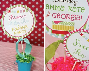 DIY, Princess and the Pea PARTY PACK