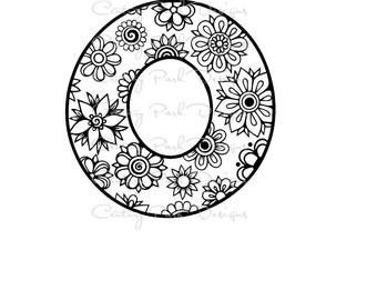 Letter O Alphabet Flowers SVG JPEG PNG Pdf Use With Silhouette Studio And Cricut Design Space