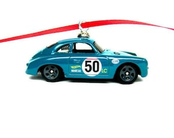Porsche 356A Outlaw Sports Car Christmas Tree Hot Wheels Ornament