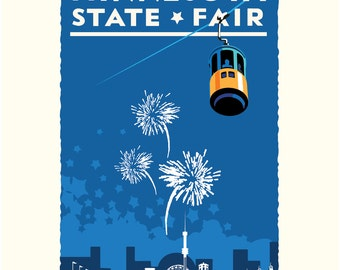Landmark MN | Minnesota State Fair Blue by Mark Herman