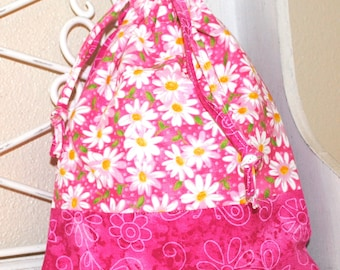 Drawstring Bag, small bag, adorable drawstring bag, Pink small bag, drawstring pink bag