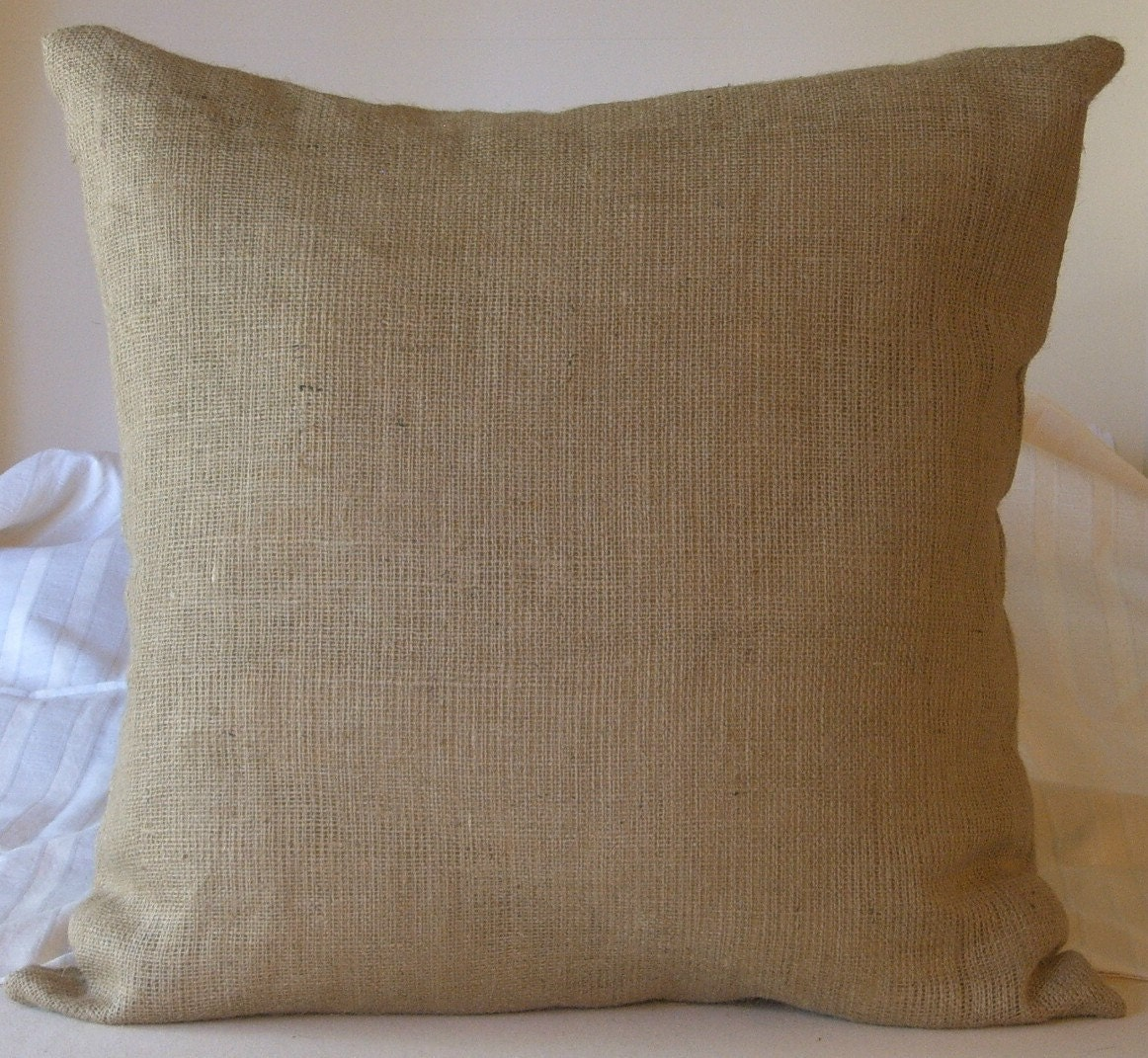 Burlap Euro Shams Pillow Cover 17 X 17 Lined For