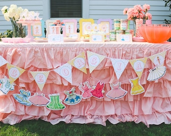 Vintage Paper Doll Party Banner