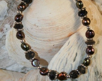 SALE!!!!!!!!  Freshwater Pearl and Iolite Bracelet (Was 45.00)