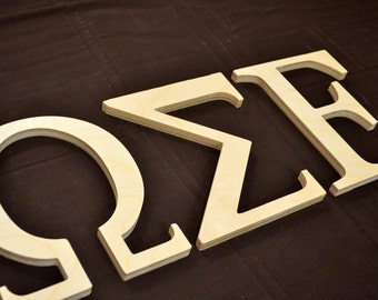 """Wooden Greek Letter - Wooden Letters - Alpha Beta Gamma Sorority Letters - 1/2 Inch Thick 12"""" Tall"""